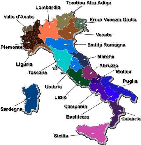 italien nach regionen